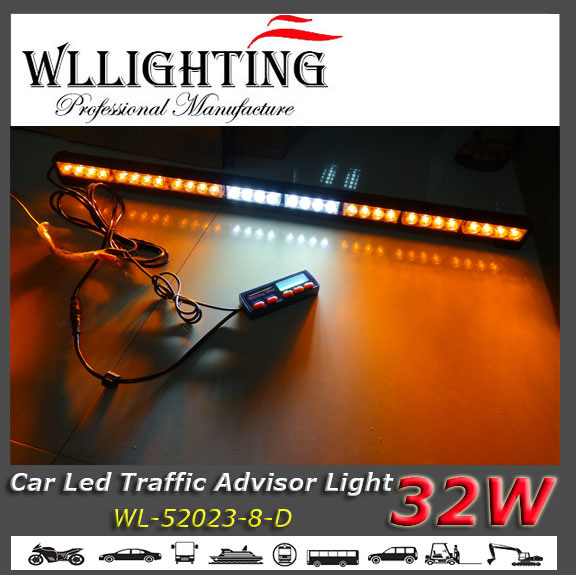 LED Emergency Vehicle Warning Light with Display Controller