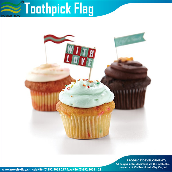 china full color printed food flag ficks party toothpick flags m