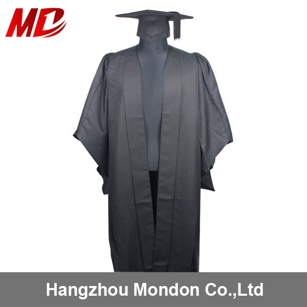 China High Qualitity UK Master Degree Graduation Cap and Gown ...
