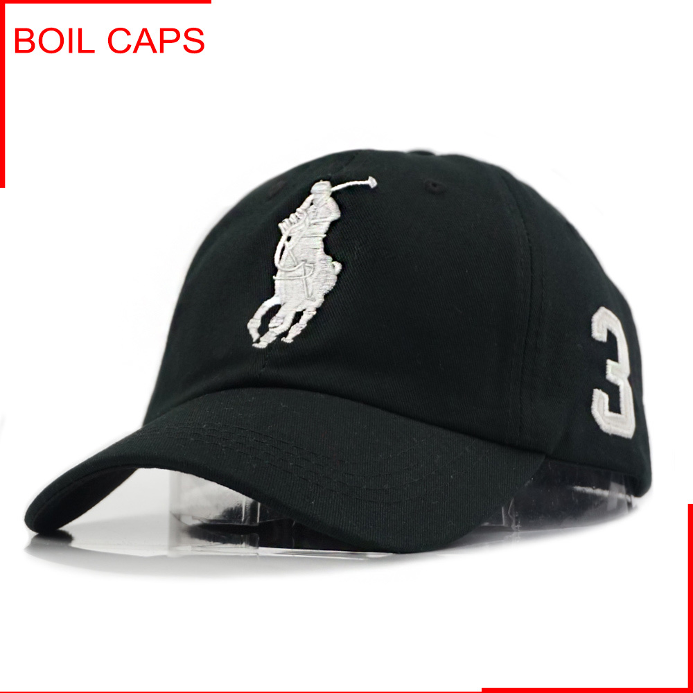 5b4149afe [Hot Item] Black Cotton Soft Top Baseball Hat with Metal Buckle for Summer