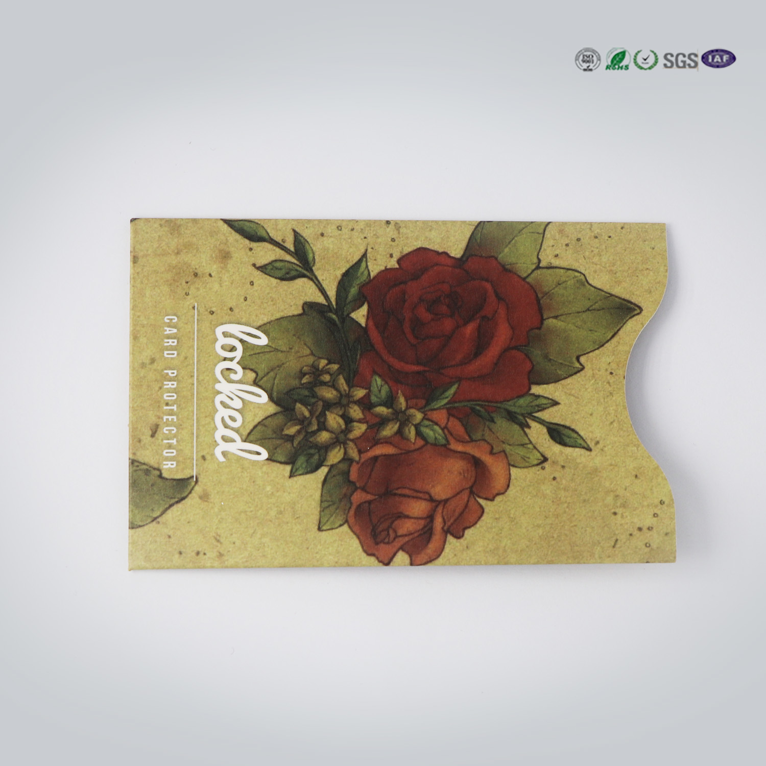 China New Design Rfid Blocking Card Sleeve Security Card Protector