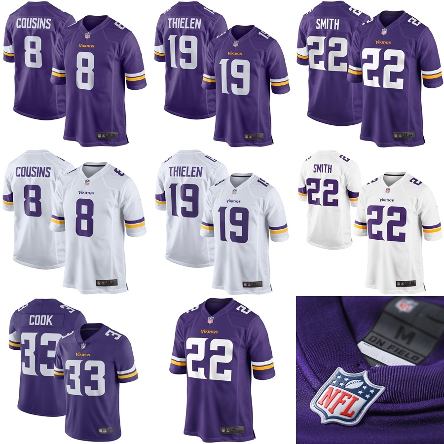 size 40 43b7a e7be5 [Hot Item] Vikings Kirk Cousins Adam Thielen Dalvin Cook Smith Limited  Football Jersey