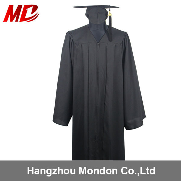 China Adult Black Wholesale Graduation Gowns and Caps - China ...