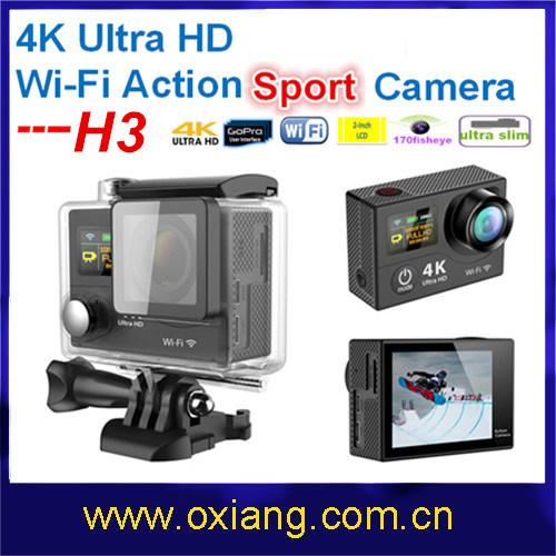Factory Price Gopro Hero 4 Ultra Full 4k Ultrathin 2 Ltps LCD Mini WiFi Waterproof Sport Action Camera DV OX H3