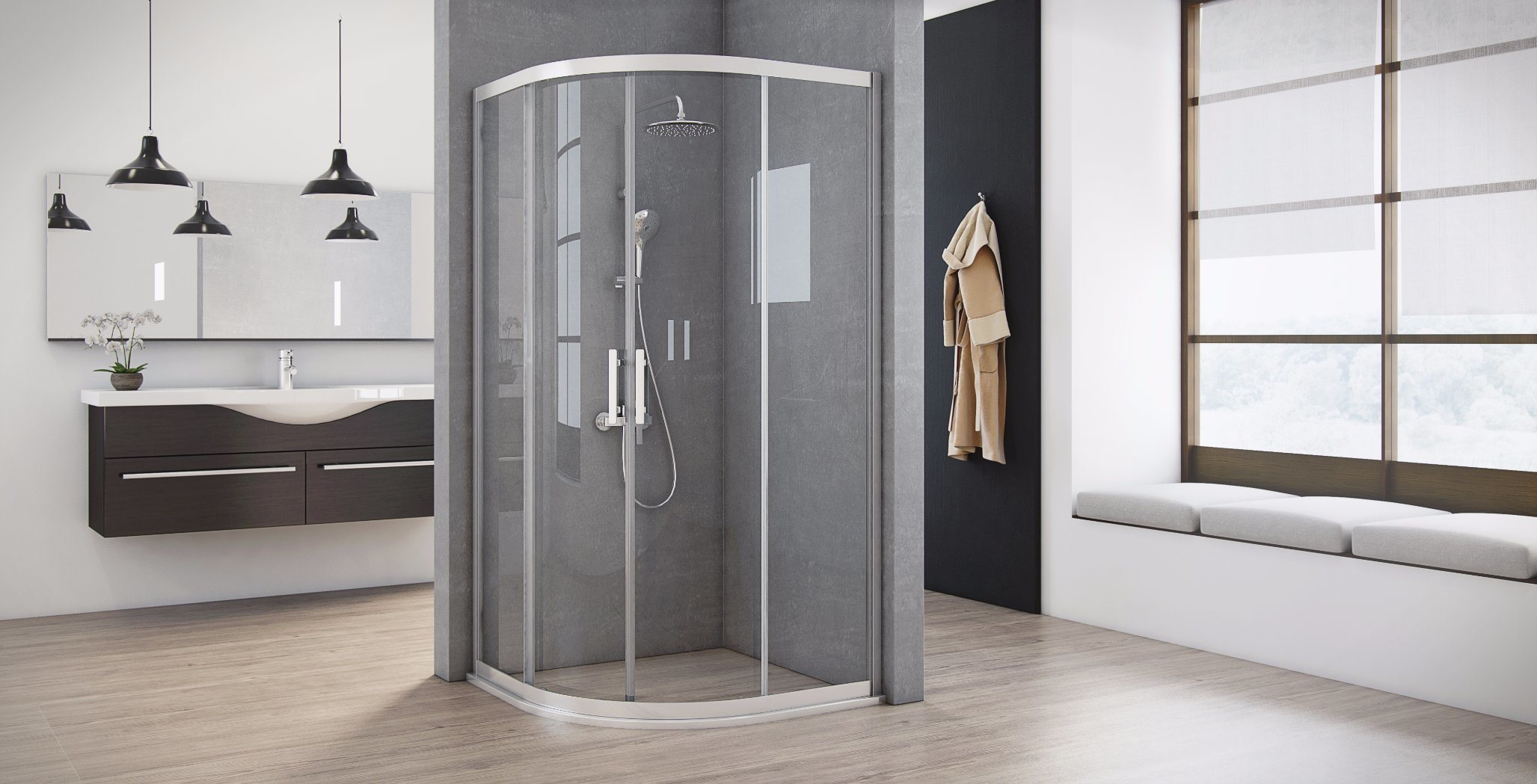 China Semi-Circular Shower Cabin Shower Enclosure - China Shower ...