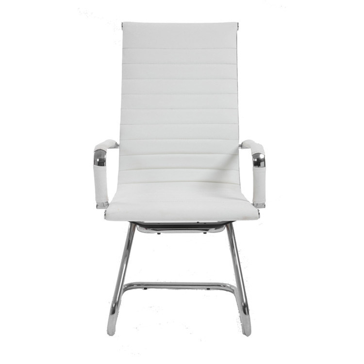 Fine Hot Item Hot Sale High Back Modern High Back White Pu Leather Guest Chair With Protective Arm Sleeves Machost Co Dining Chair Design Ideas Machostcouk