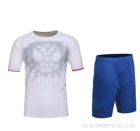 sports shoes 394f7 25488 [Hot Item] 2016 European Cup Russia White Jersey Russia Away Jersey Soccer