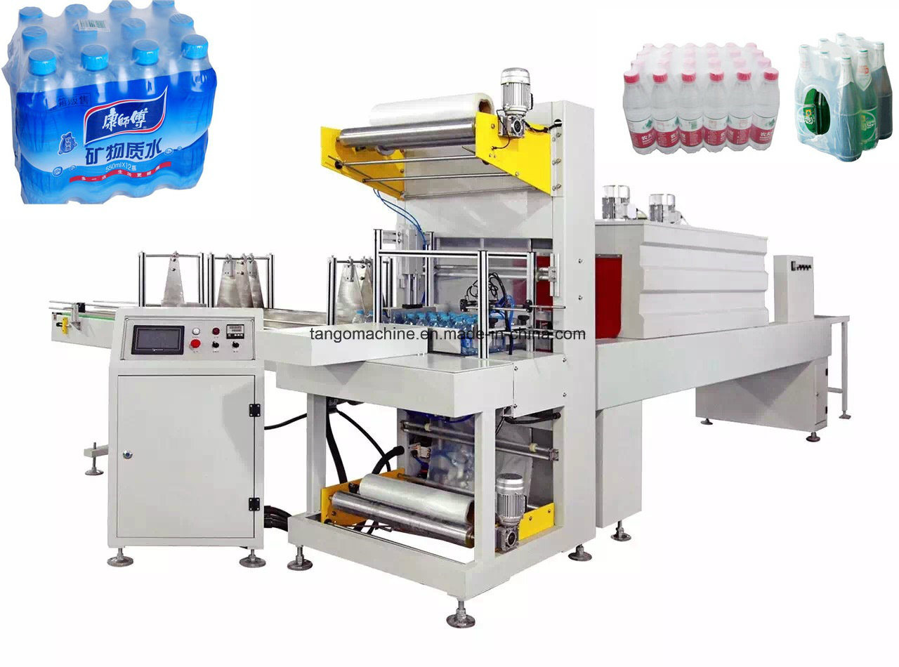 Auto Non-Tray L Type Pet Bottle Shrink Wrapping Machine for 10pack/M pictures & photos