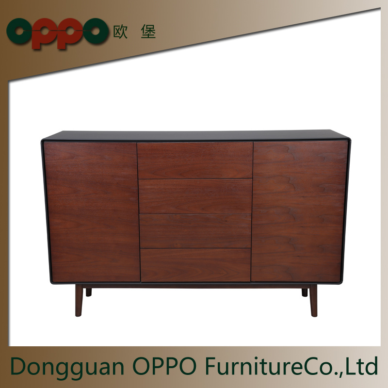 China Mdf Tv Cabinet With Black Walnut Veneer Living Room Sideboard