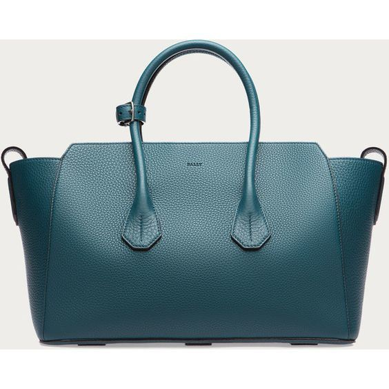 Women´ S Medium Leather Tote Bag in Teal Women´ S (BDMC087)