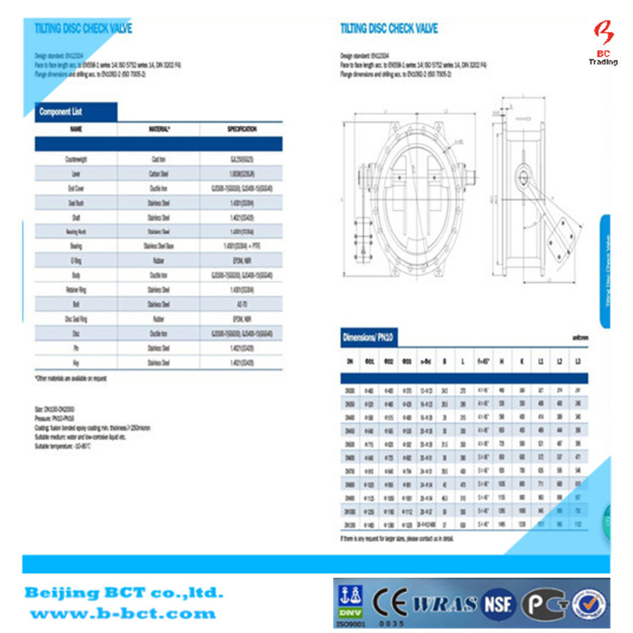 Tilting Disc Check Valve pictures & photos