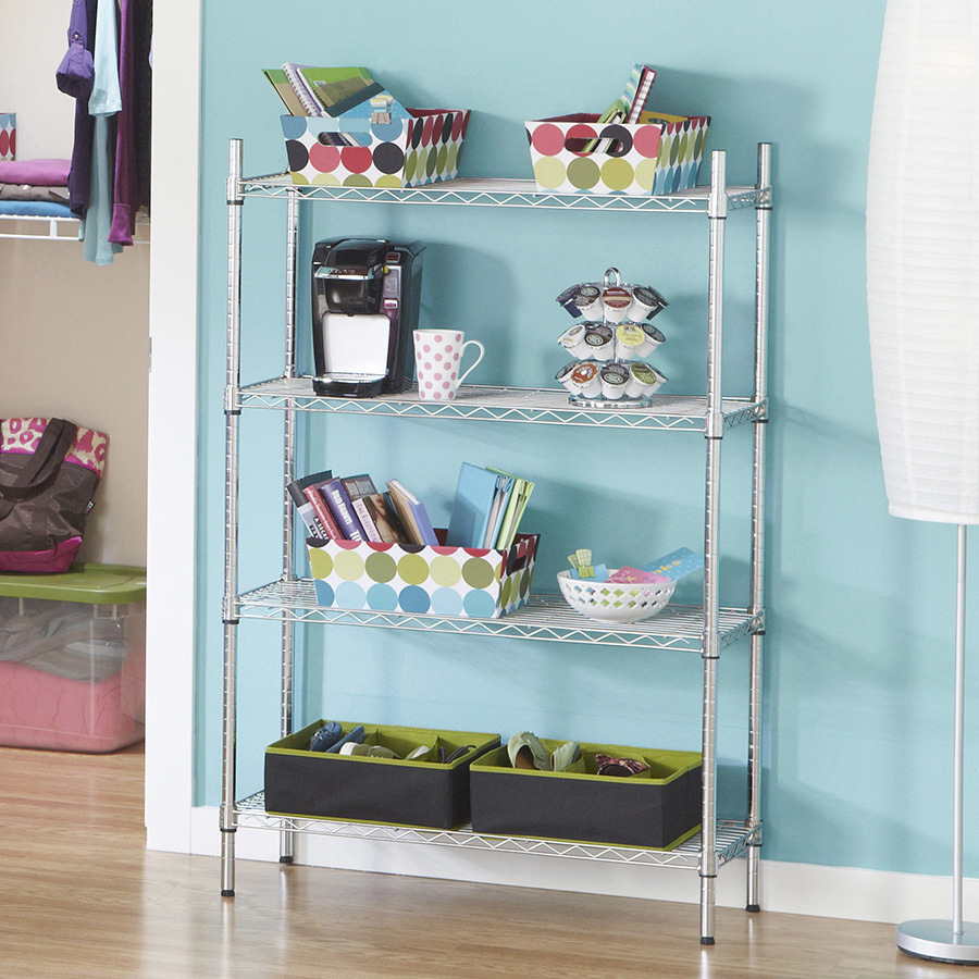 China 4-Layer Chrome Wire Shelving for Livingroom and Office - China ...