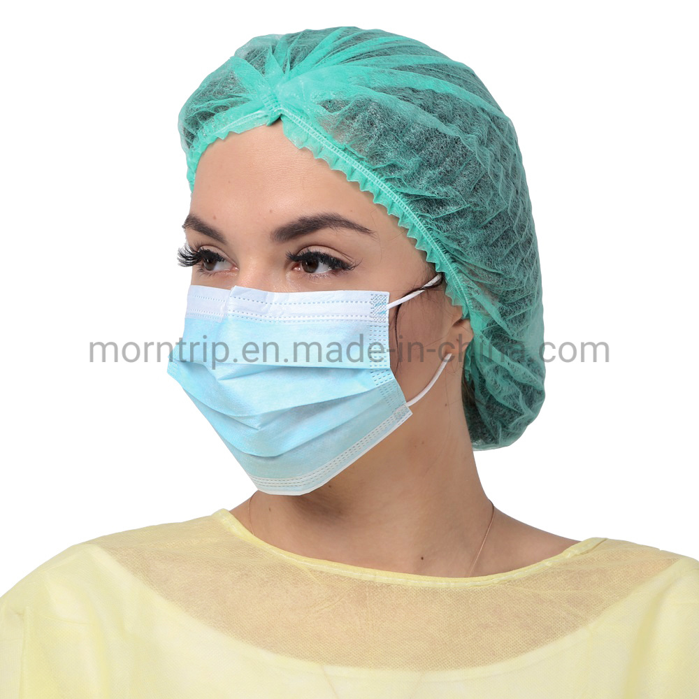 White Blue Non Woven Pleat Non Sterile Procedure Anit Droplets 3 Ply Earloop Thick Impervious Protective Medical Surgical Disposable Face Mask