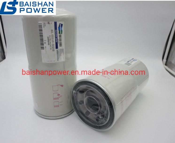 China Doosan Engine Fuel Filter 65.12503-5018 Lube Filter 65.05510-5020b  Doosan Oil Filter 65.05510-5020b - China Diesel Generator, Generator Part