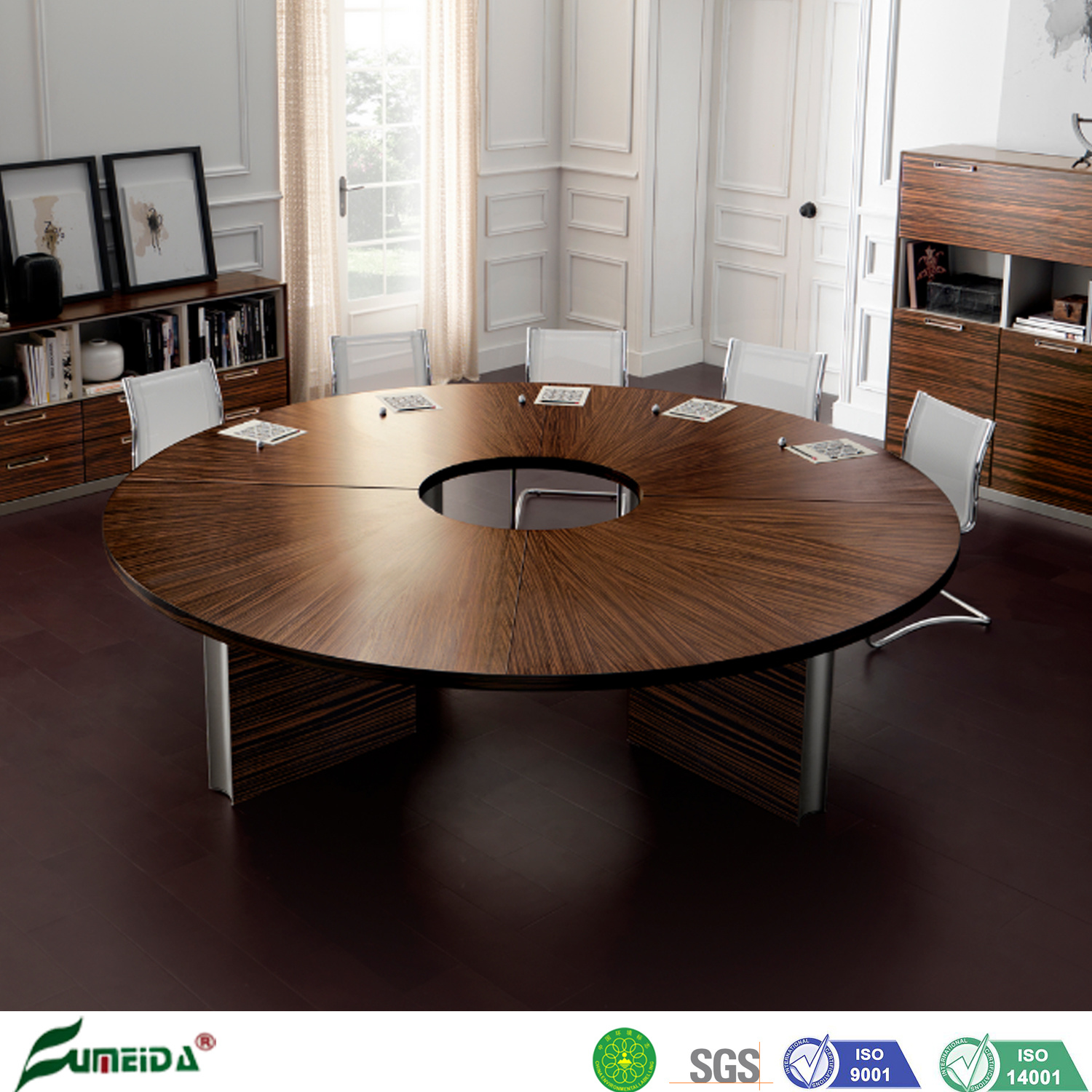 [Hot Item] Luxury Wooden Circular Round Shape Office Conference Room  Meeting Table