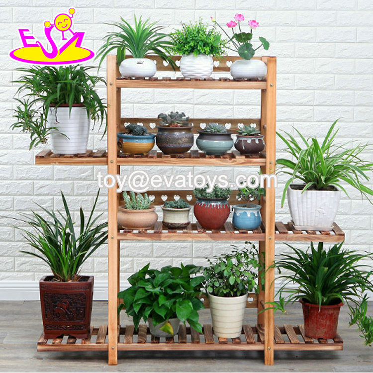 4 Tiers Wooden Garden Plant Stand