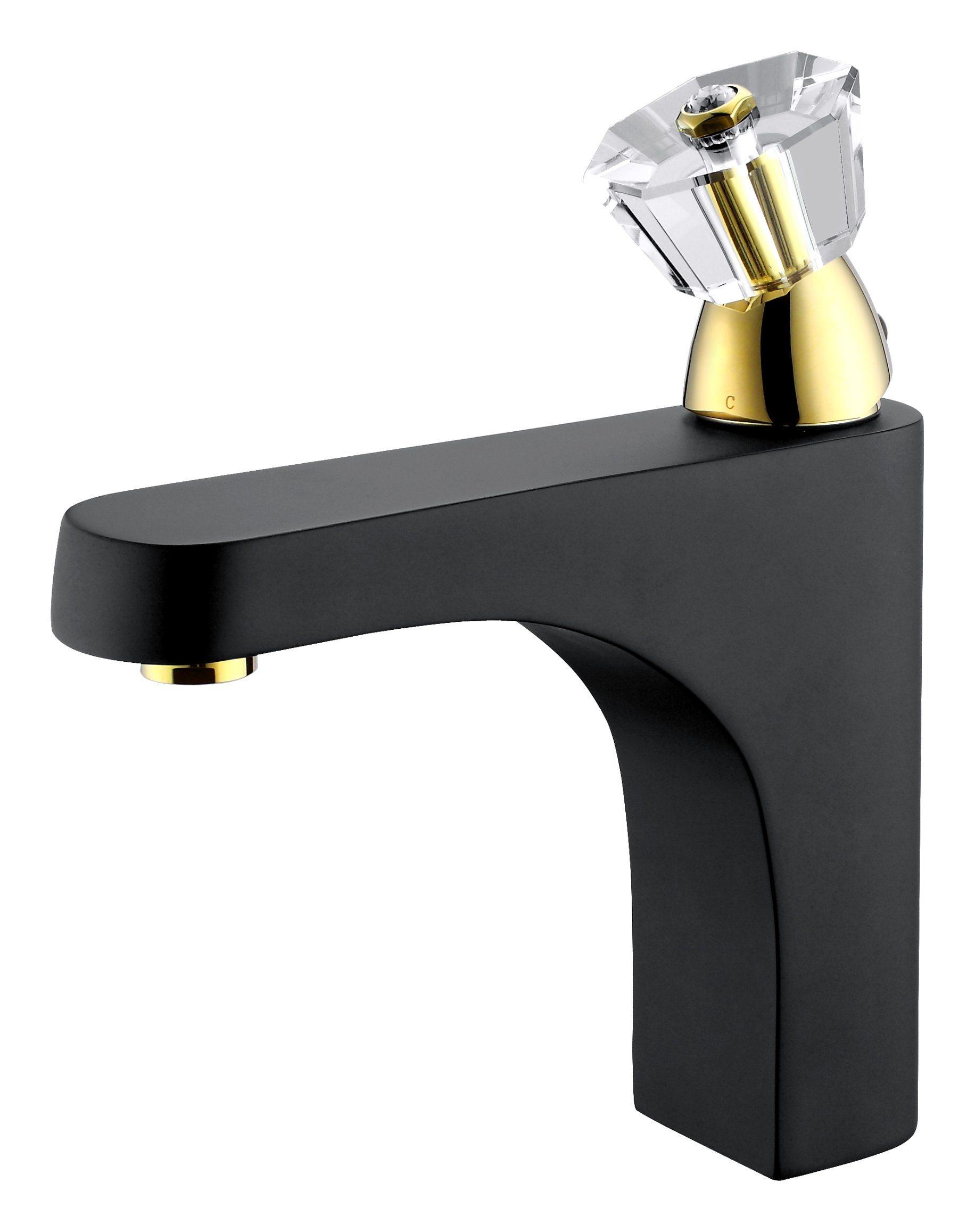 China Luxury Single Handle Marble Brass Bathroom Basin Mixer Faucet ...