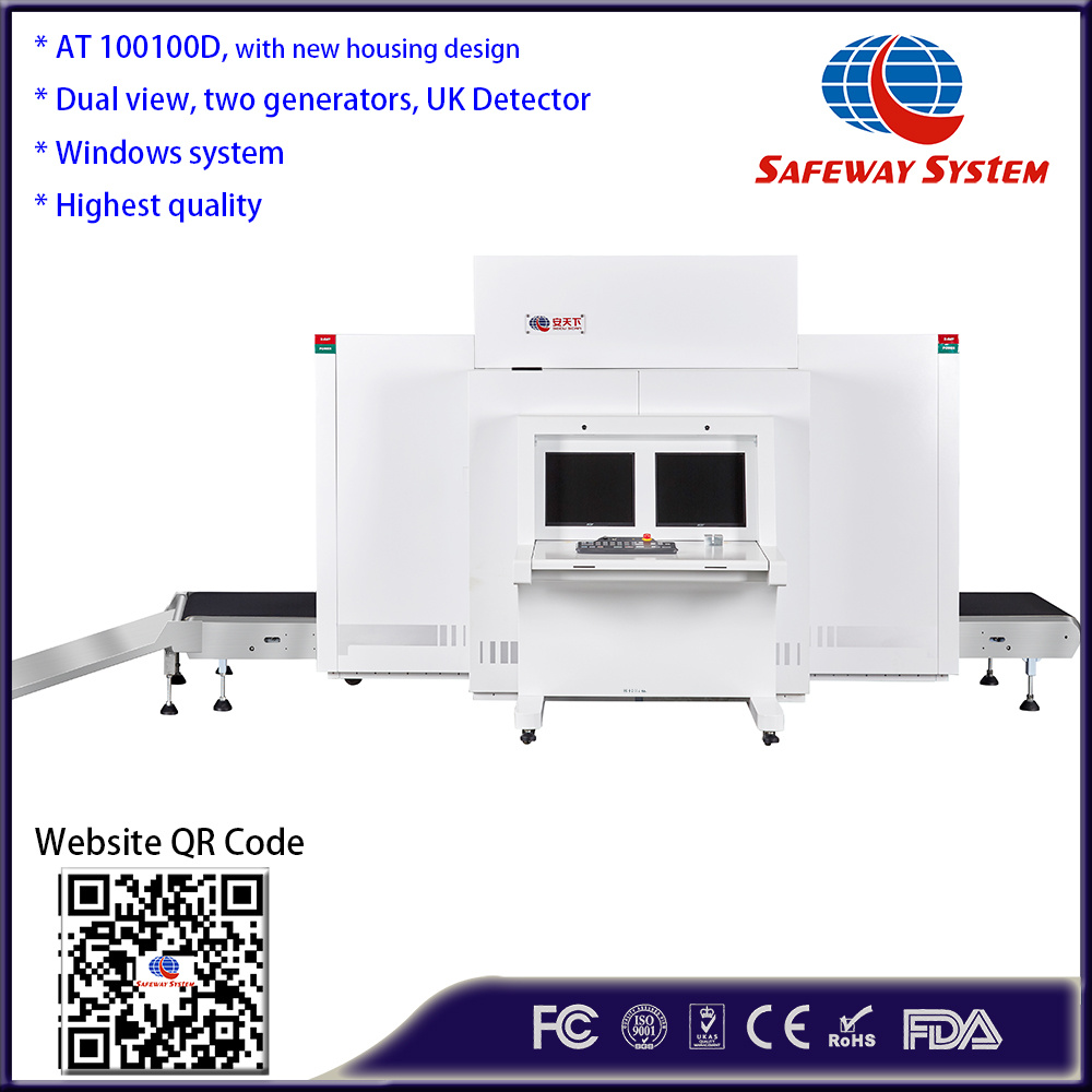 [Hot Item] with X-ray Generator Made X Ray Scanner Two Generator, Two View  Perspective