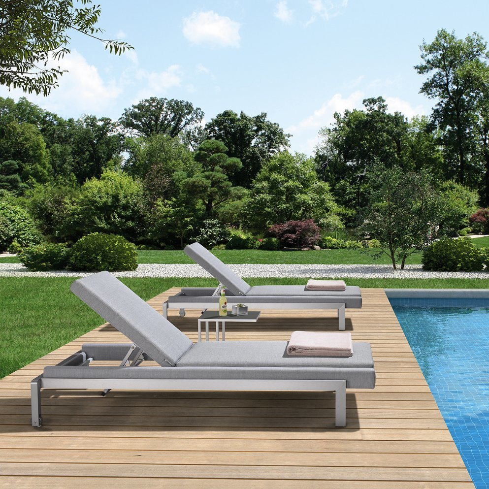 - China Commercial Patio Furniture Pool Aluminum Chaise Lounge With