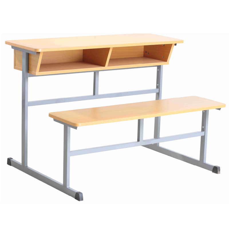 China Vintage School Combo Desk With Benchs Classroom Wooden Double And Chair