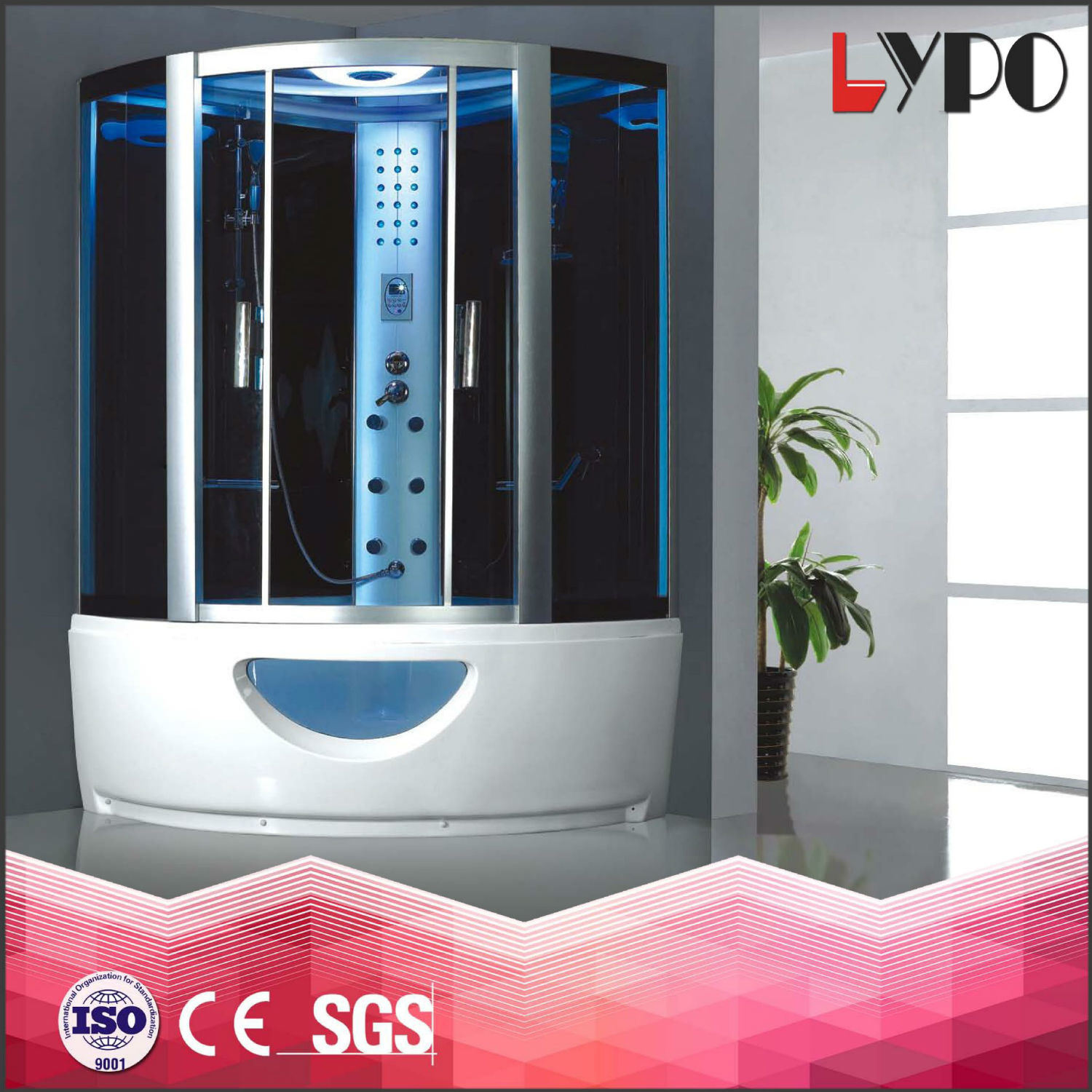 China K-7038 Bath Wet Steam Room Massage Bathtub with Shower ...