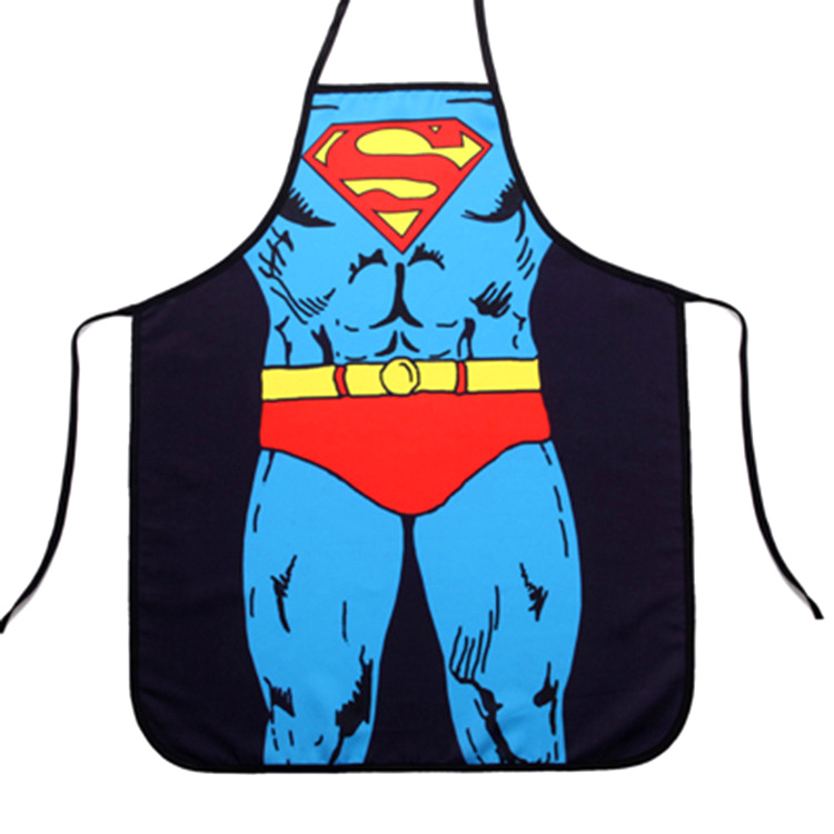 Customized Logo Superman Non Woven Apron with Good Price pictures & photos
