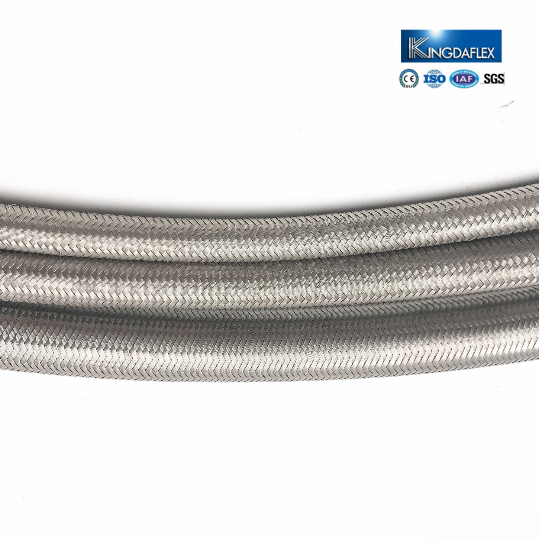 China 1/8 Inch Stainless Steel Braided Hydraulic Hose SAE 100 R14 ...