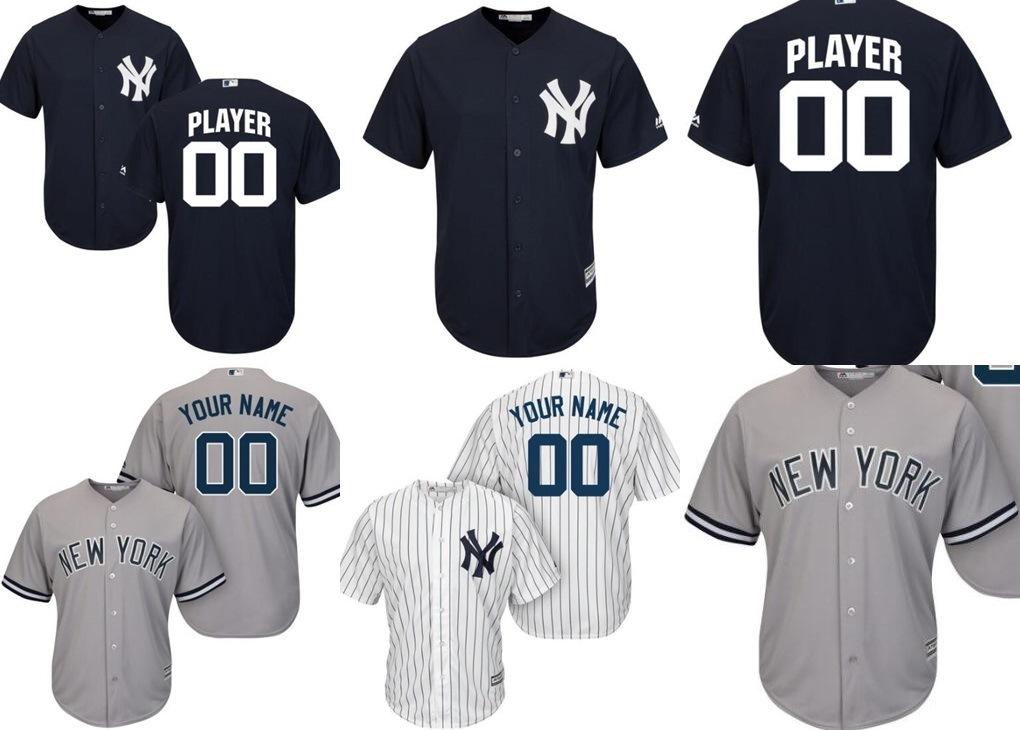 new style 9dce1 113a2 [Hot Item] Customized Men Women Kids New York Yankees Baseball Jerseys