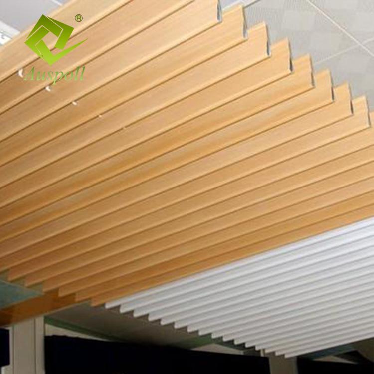 Wood Color Suspended Alumunum Interior