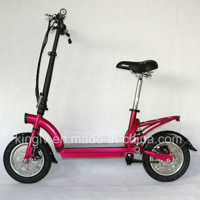 [Hot Item] Cheap Carbon Steel Frame Electric Scooter with 300W Hub Motor