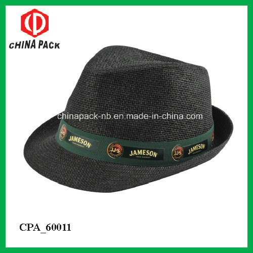 Promotional Cheap Paper Straw Feodara Hats with Printing Logo (CPA 60025) 8de09039f31
