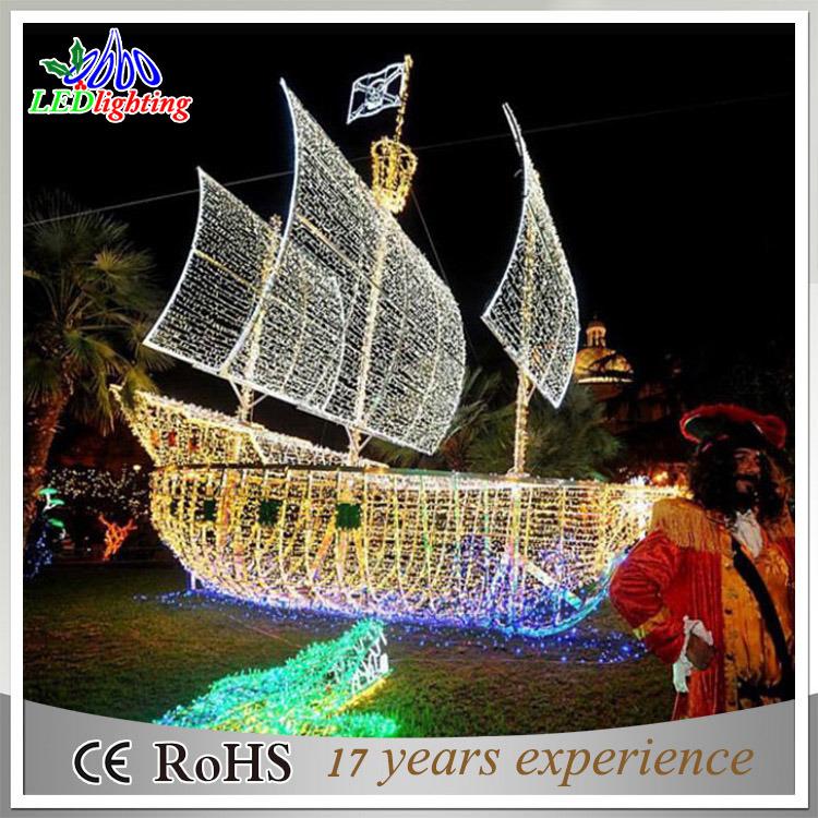 Christmas Boat Decorations.Hot Item Magic Brightness Outdoor Christmas Boat Motif Decorations Rope Lights
