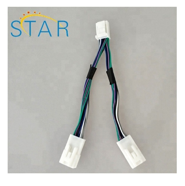 12 Pin Male to Female Wire Harness Car Radio Y Cable for Toyota china 12 pin male to female wire harness car radio y cable for