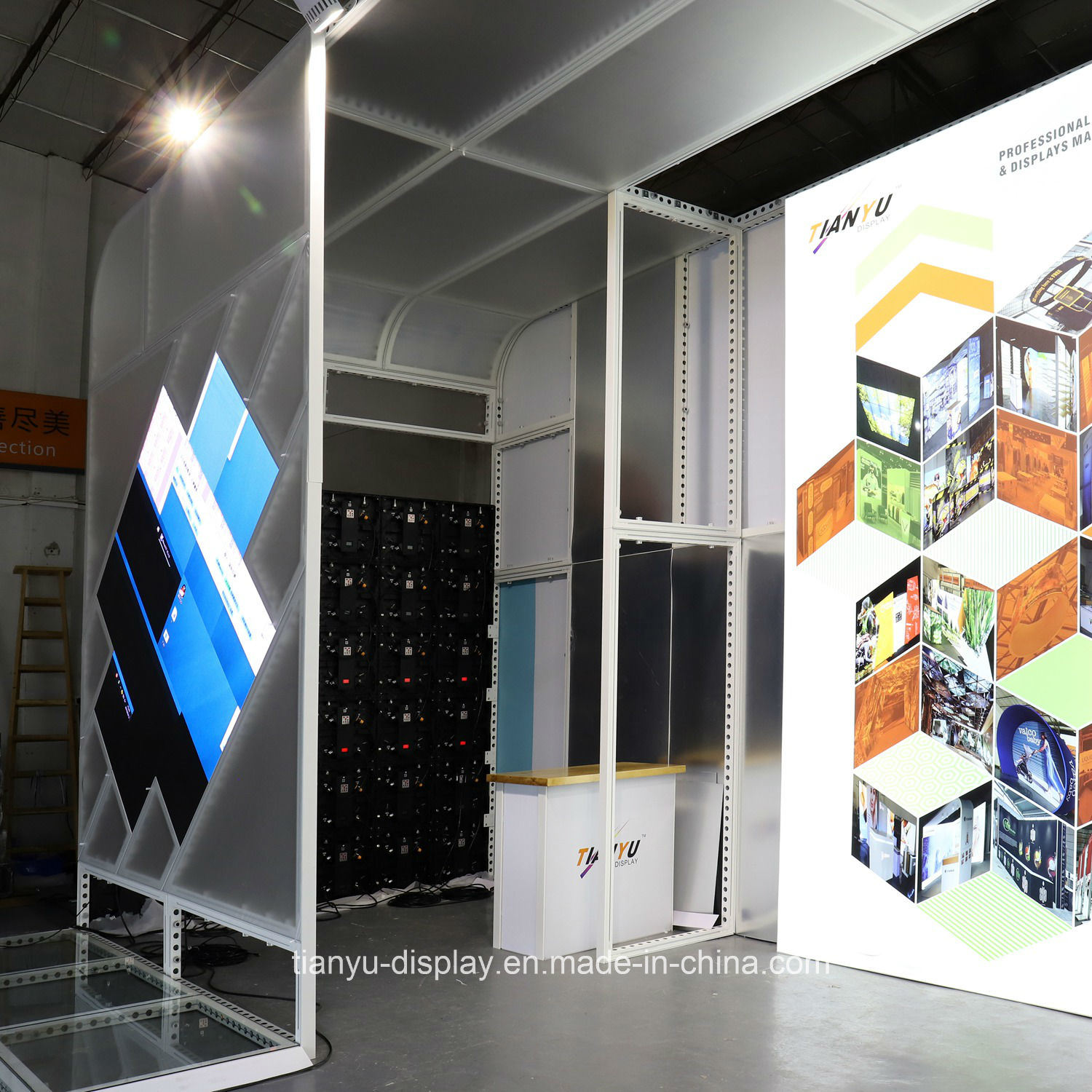Exhibition Stall Size : China easy handling display booth design size trade show stand