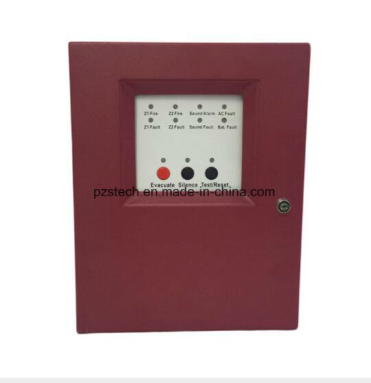 2 Zone Conventional Fire Alarm Control Panel Facp Detector System pictures & photos