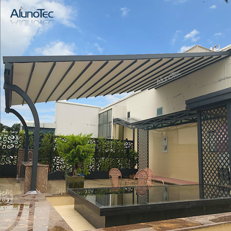 China Factory Auto Outdoor Metal Awnings Pergola Aluminum Awning Retractable Roof China Awning And Retractable Awning Price