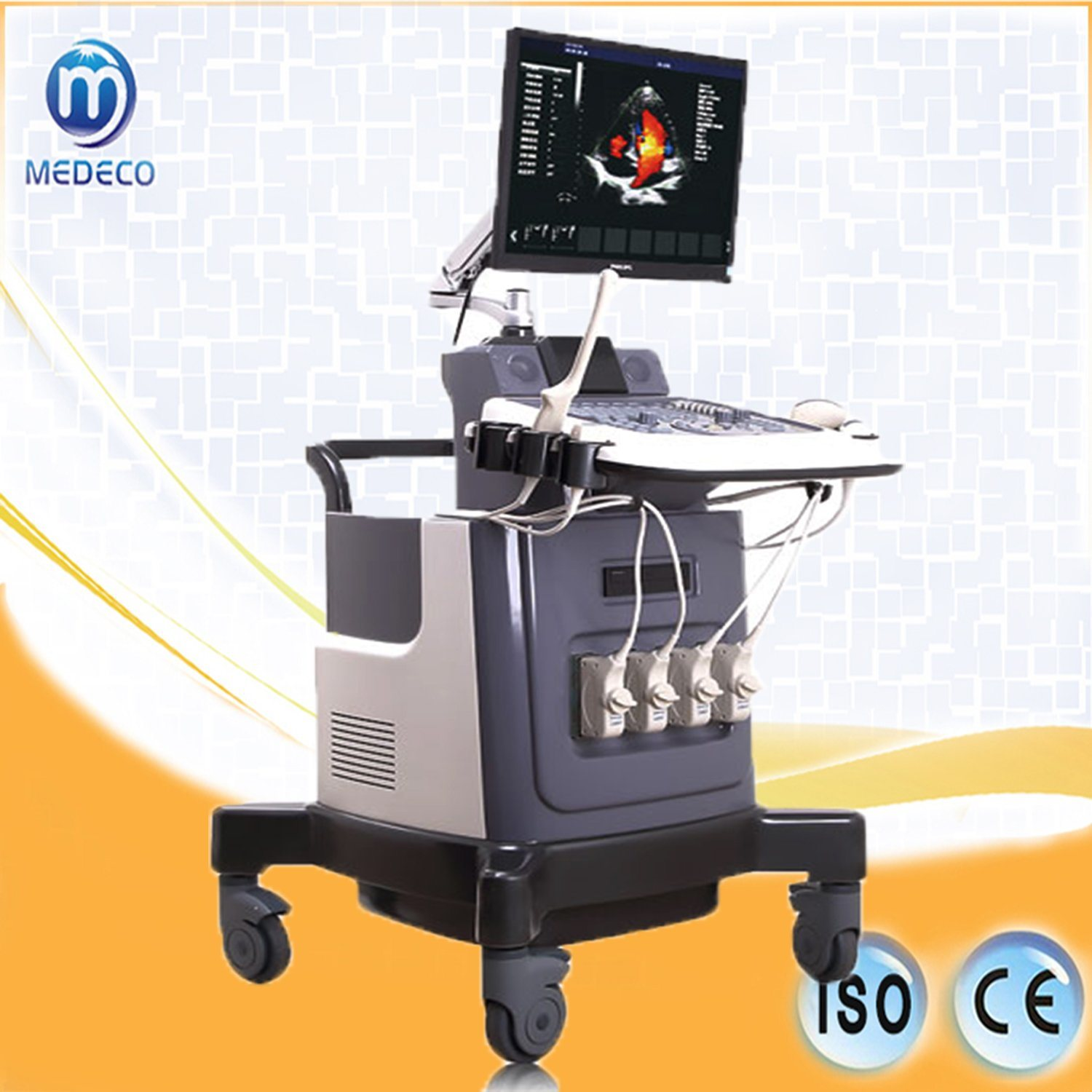 Vascular Minitor Me-6018II Trolley Color Doppler 15 Inch LCD Monitor Ultrasound Scanner pictures & photos