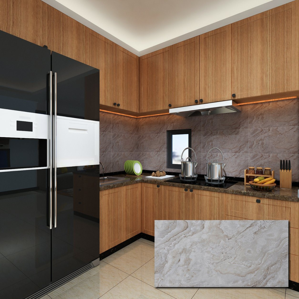 Modern Kitchen Wall Tile Backsplash