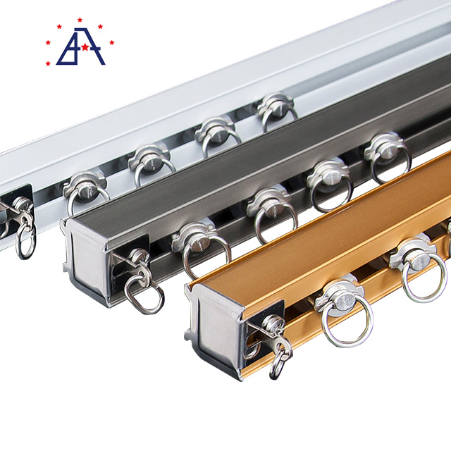 hot item aluminium sliding window accessories heavy curtain rods and rails curtain track rod