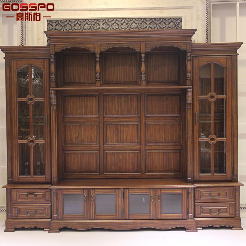 China Living Room Big Wood Furniture TV Cabinet (GSP15-004