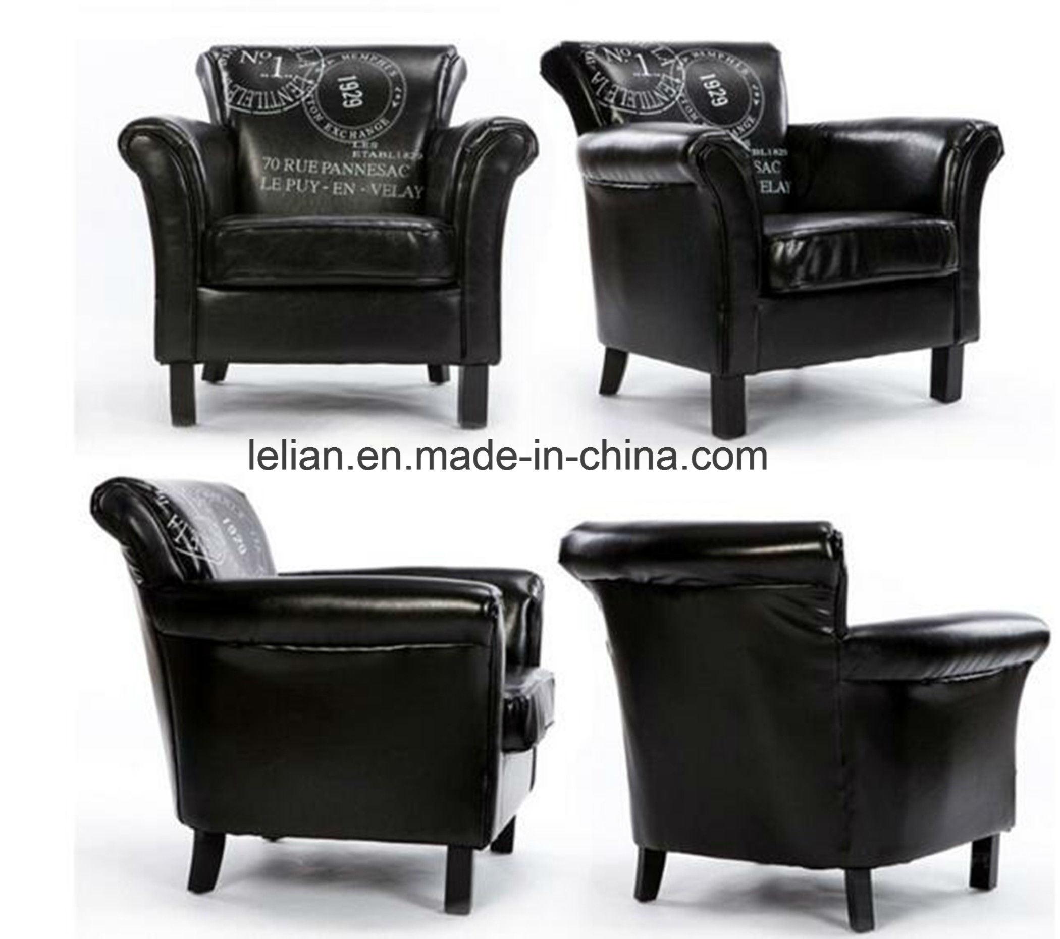 China Modern Design Sofa Furniture Leather Single Sofa Chair (LL ...