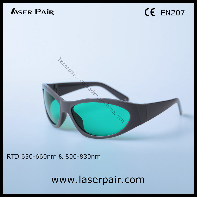 f98ebcf50b China Fashionable Type of 635nm Red Laser and 808nm Diode Laser Protection  Goggles 630-660nm   800-830nm with Frame 55 - China 635nm 808nm