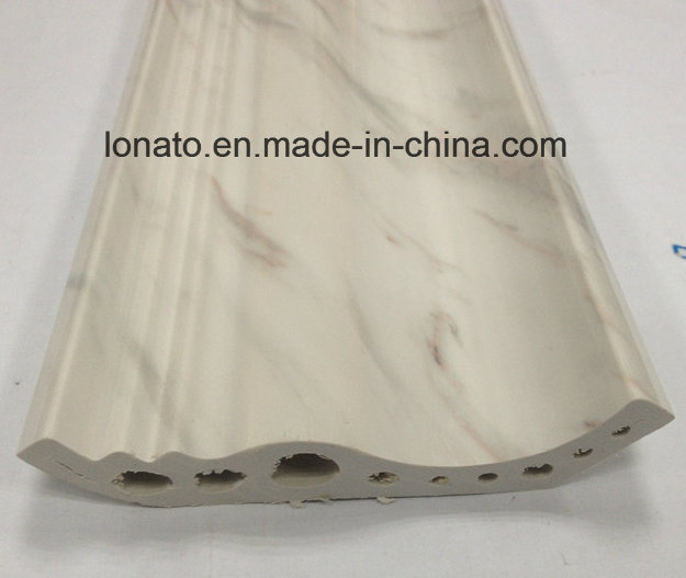 Marble and Wood Color PVC Moulding Cornice for Wall Decoration