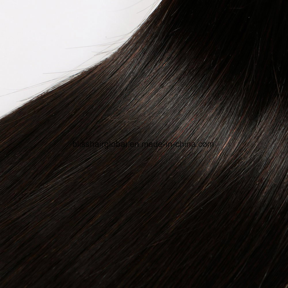 Bliss Virgin Hair Straight Black Color 3 Pieces in One Pack pictures & photos