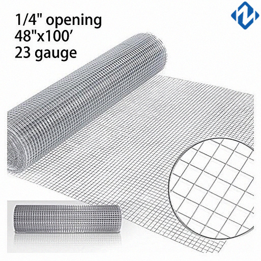 [Hot Item] Premium 1/4′′ Inch Welded Hardware Cloth Galvanized 48′′x100′  23gauge