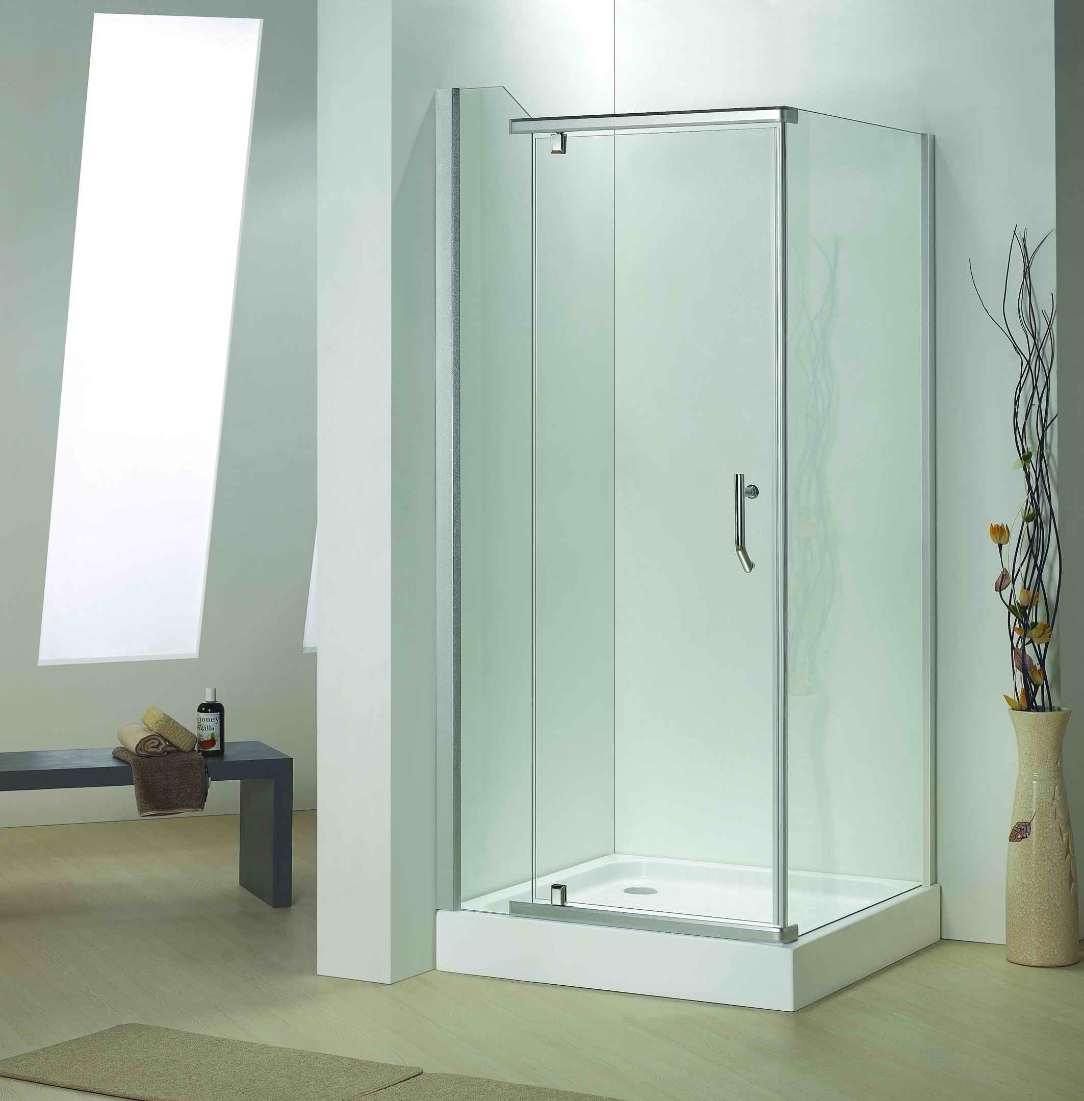 Hot Item Bathroom 8mm Tempered Glass Pivot Door Shower Door Enclosure Bb639