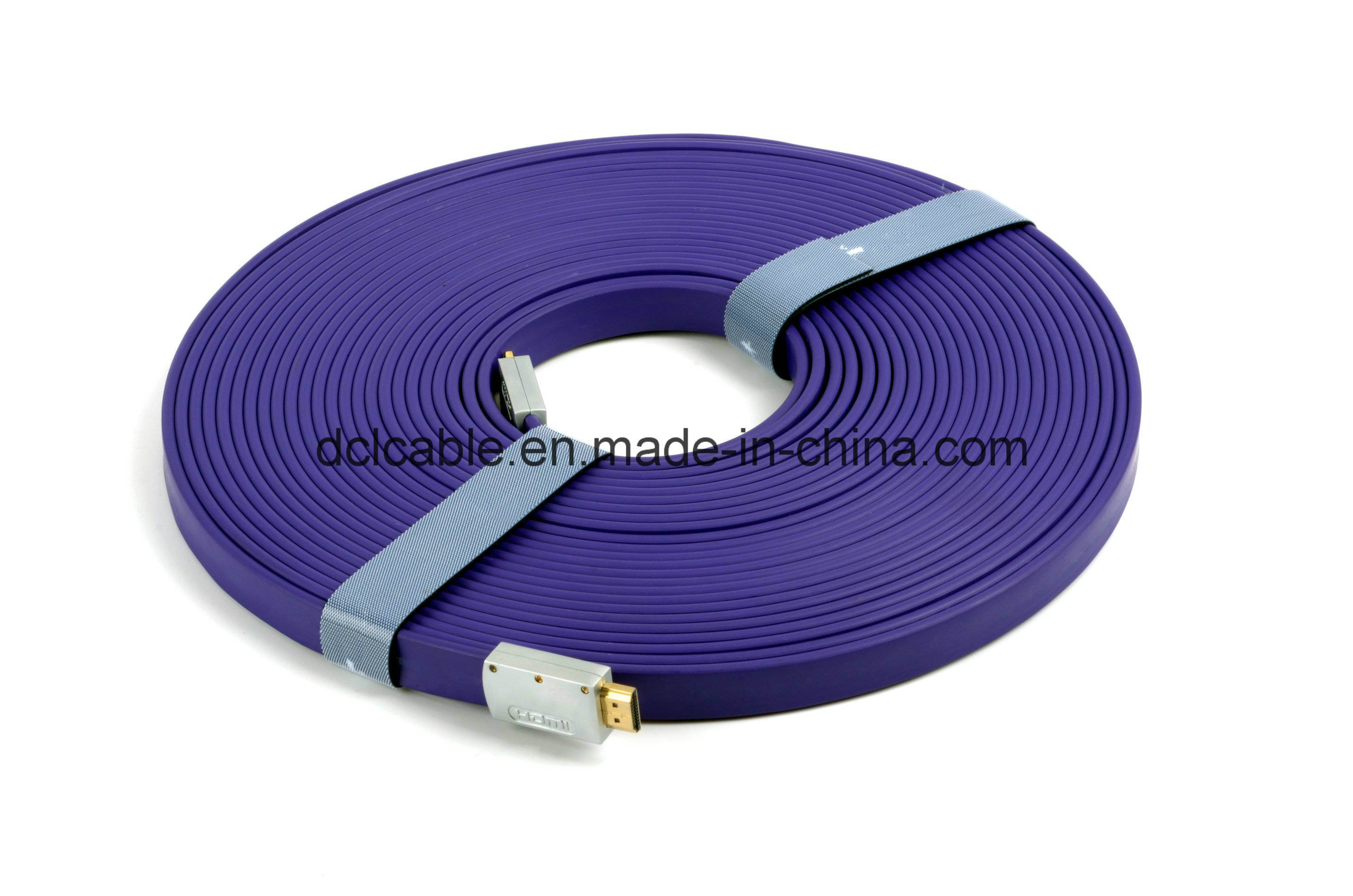 20m Metal Shell Flat HDMI Cable 1.4V Support 3D/1080P