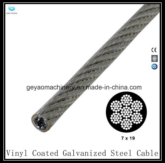 China 7X19 Vinyl Coated Galvanized Steel Cable-Aircraft Cable ...