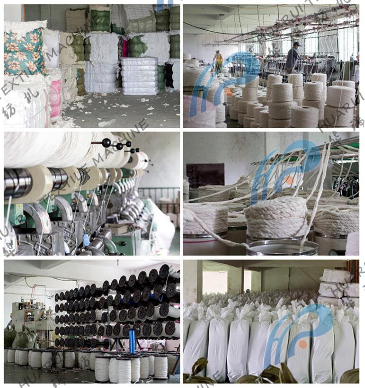 China Small Recycled Fiber Six Rollers Textile Cotton Yarn