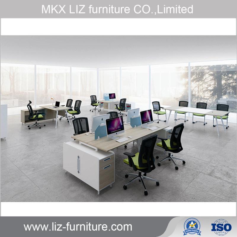 Hot Item Commercial Office Furniture Modern 4 Seater Workstation Desk Gf 2897